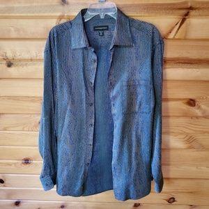 Jhane Barnes Multi-Color Cotton Button Down Shirt